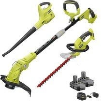 18V ONE+™ String Trimmer/Edger, Hedge Trimmer & Sweeper with (2) 1.3Ah Batteries & Charger