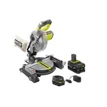 18-Volt ONE+ Lithium-Ion 7-1/4 in. Cordless Mitre Saw Kit with 4.0 Ah Battery, Charger, Blade and Blade Wrench