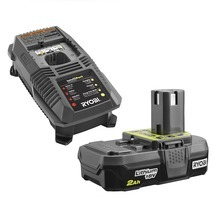 RYOBI 18V ONE+™ LITHIUM™ 2.0Ah Compact Battery and Charger Upgrade Kit